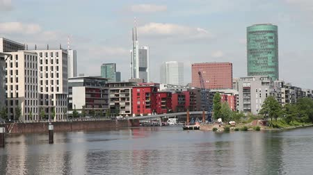Франкфурт : Skyline and river from Frankfurt, Germany