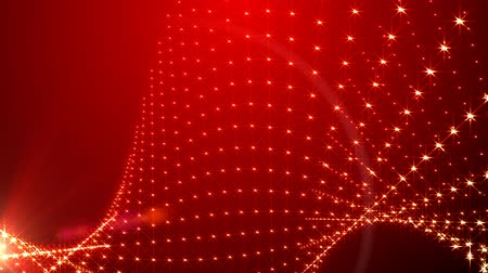 doted : red background light beads