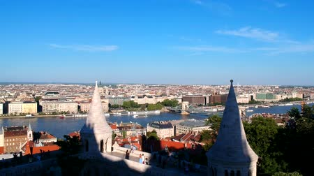 bástya : Aerial view at Budapest, Hungary from Fishermans Bastion