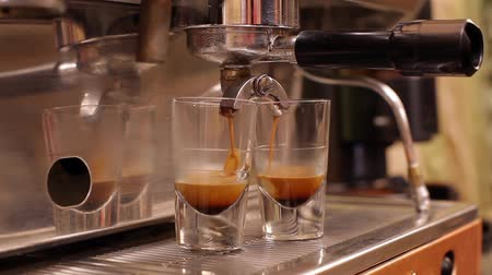 coffee brewing : Espresso machine brewing coffee