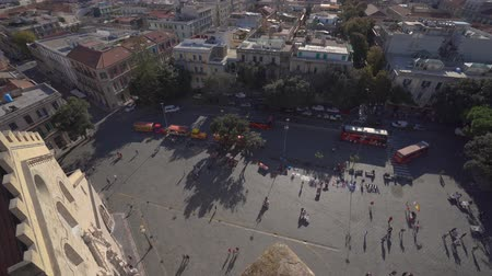 templomtorony : MESSINA, ITALY - NOVEMBER 06, 2018 - Top view from Cathedral of Messina, Sicily in 4k