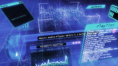 sonido : Software 3D futurista reproductor de audio layot
