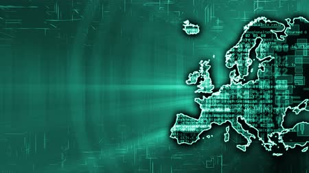 gelişme : Background of Europe with IT technology. Seamless loop.
