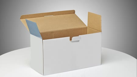 paketleme : Real Cardboard box closed packaging and ready for Delivering