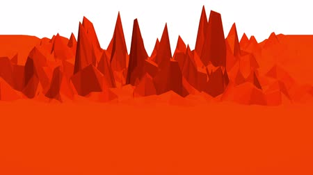 palpitação : abstract waving red low poly surface as landscape