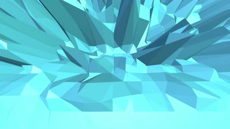 eixo : blue low poly shifting surface