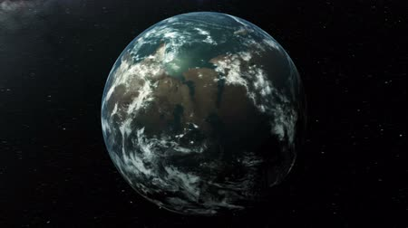 zooming earth animation