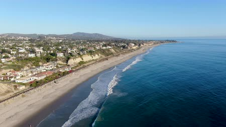 waterkant : Aerial view of San Clemente coastline town and beach, Orange County, California, USA. Travel destination South West Coast. Famous beach for surfer.