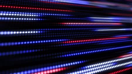 süreklilik : Blue and red abstract technology background of little light dot stripes. Motion waving glowing d-focused little ball particles. Abstract creative pop colorful motion. Stok Video