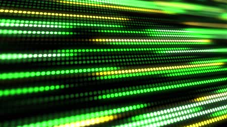 süreklilik : Green and yellow abstract technology background of little light dot stripes. Motion waving glowing d-focused little ball particles. Abstract creative pop colorful motion.