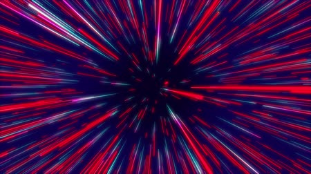 okładka : Red and blue colorful abstract radial lines geometric background. Data flow tunnel. Explosion star. Motion effect. background