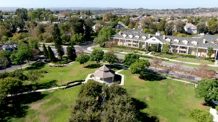 same : Aerial view of Town Green little park in Ladera Ranch, South Orange County, California. Large-scale residential neighborhood with small park