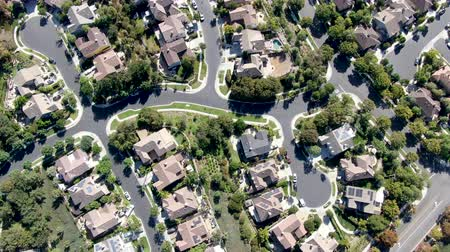 양산 : Aerial top view of master-planned community and census-designated Ladera Ranch, South Orange County, California. Large-scale residential neighborhood