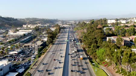 complexidade : Aerial view of the San Diego freeway, Southern California freeways, USA
