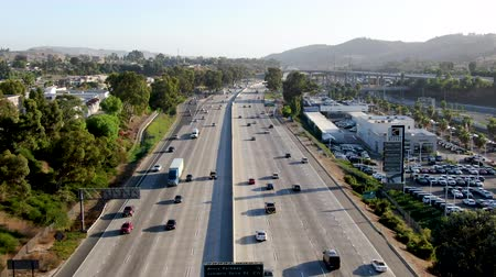 interscambio : Aerial view of the San Diego freeway, Southern California freeways, USA
