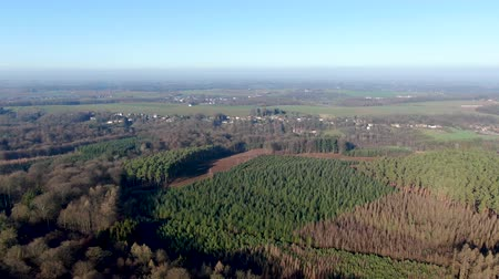 belga : Aerial view of Villers-la-Ville wild landscape in the Brabant province of Wallonia, Belgium