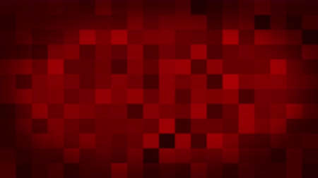 kapcsoló : Red motion abstract background colorful pixels flashing and switch. Animation background glowing of mosaic tiles. Moving technologic squares with shine light. Abstract Red Squares background