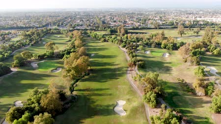 çimenli yol : Aerial view over golf field. Large and green turf golf course in South California. USA