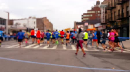 sportowiec : New Marathon Runners Blurred 4K