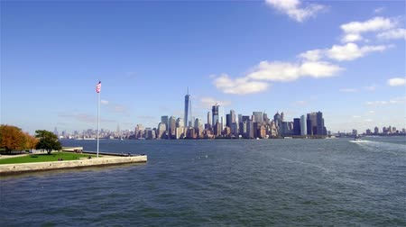 South Lower Manhattan Panoramic View 4K Wideo