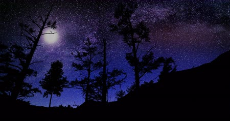 scény : Beautiful Night Sky Milky Way Stars Time Lapse 4k