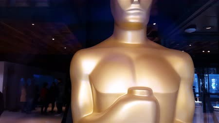 Statue Oscars Academy Awards Editorial 4K Wideo