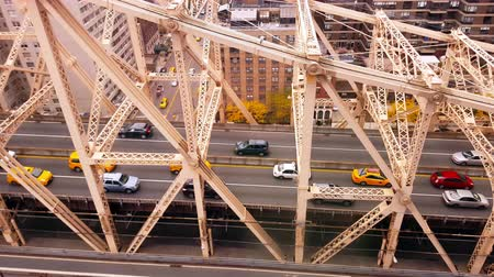 Aerial View of The Queensboro Bridge New York City 4k Wideo
