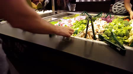 People at the Salad Bar 4K