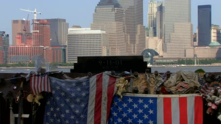 gedenksteen : 911 Nine Eleven Memorial Blijft HD Stockvideo