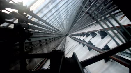 eixo : Modern Elevator Shaft II Stock Footage