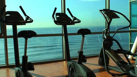faíscas : Gym with ocean view HD Stock Footage