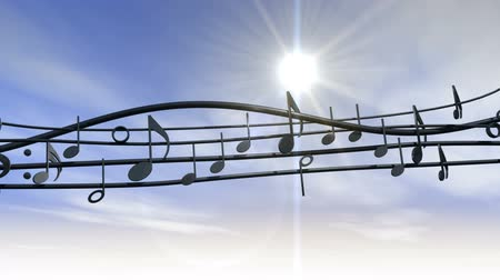 půltón : Musical Note against Blue Sky and Sun HD