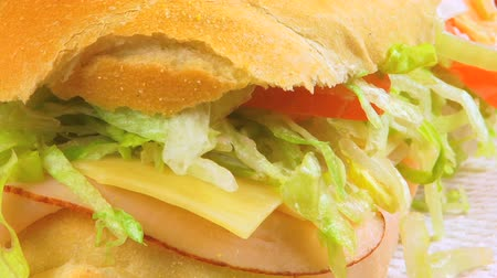 held : Sandwich Close Up Stockvideo