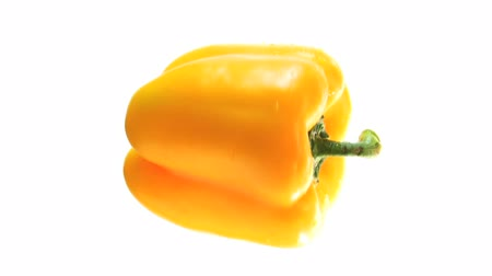 światłowód : Rotating Isolated Yellow Pepper HD