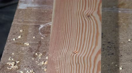 paneling : Tracing and drilling of a wooden board