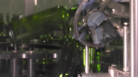 bottling unit of Bordeaux wine Stock Footage