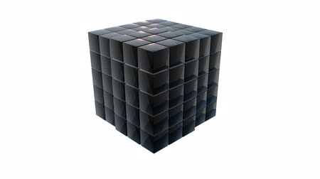 marco internacional : Cubes block. Assembling Big Data concept.