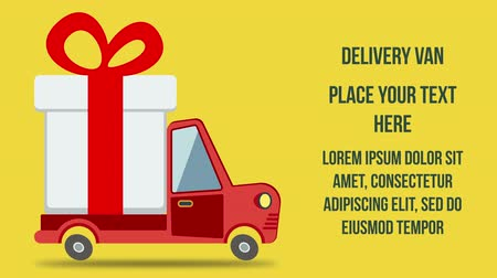 loga : Gift delivery van rides on