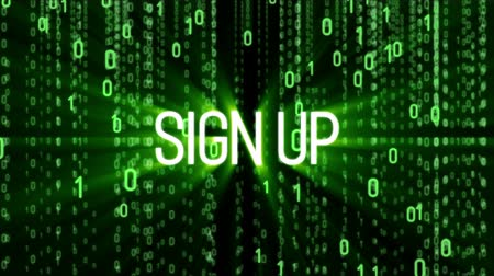 поощрение : Sign up motion background