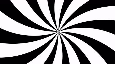 stoned : Retro Radial Black and White Pattern. Stock Footage