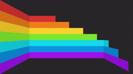 гей : Abstract moving rainbow stripes background