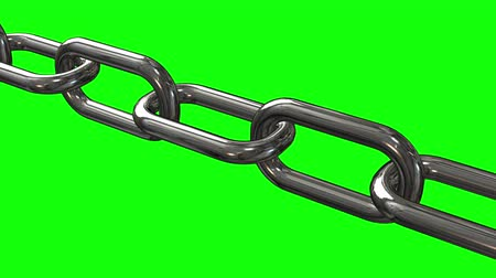 safe workout : Metal Chain links moving