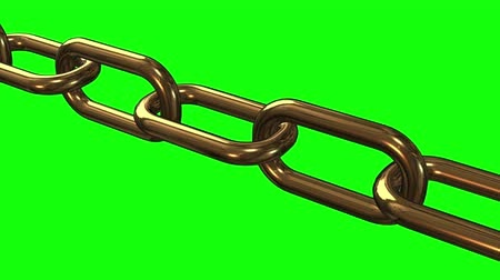 safe workout : Gold Chain links moving