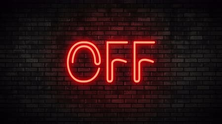 toggle : Off Red Neon Light on Brick Wall