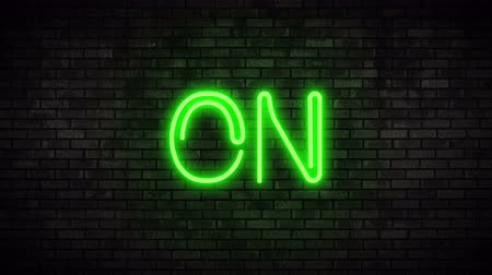 toggle : On Green Neon Light on Brick Wall