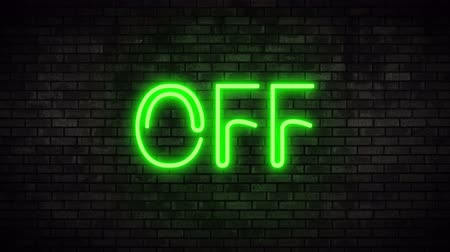 toggle : Off Green Neon Light on Brick Wall