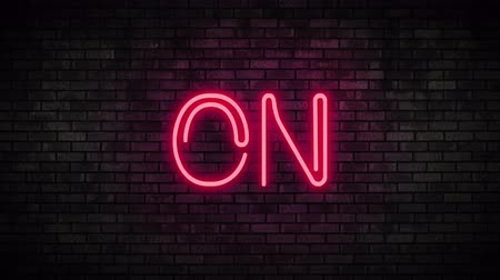 toggle : On Red Neon Light on Brick Wall