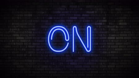 toggle : On Blue Neon Light on Brick Wall