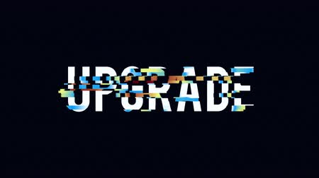 computer program : Upgrade text distorted glitch