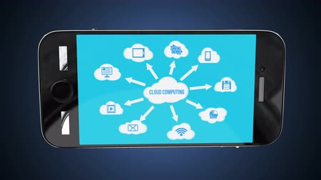iş istasyonu : Cloud Computing concept with a lot of clouds